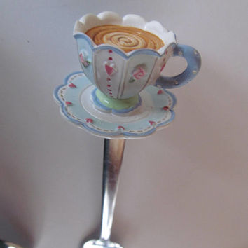 Teacup Sugar Spoon Tea Cup Spoons Victorian Tea Table Decor High Tea Teacup Lover Gift Idea Tea Cup Collector Collecting Teacups