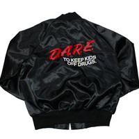 Vintage 90s DARE Satin Jacket Made in USA Mens Size Medium