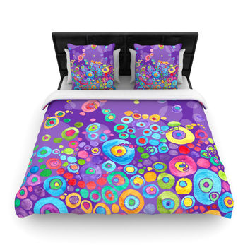 "Catherine Holcombe ""Inner Circle Purple"" Lavender Fleece Duvet Cover"