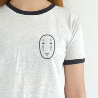 Spirited Away Shirt No Face Tshirt Studio Ghibli Tee Spirited Away Geek Nerd Gift T-shirt