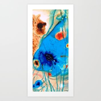 Colorful Abstract Art - The Reef - Sharon Cummings  Art Print by Sharon Cummings
