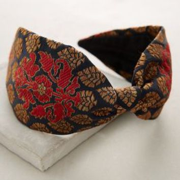 Brocade Turban Headband by Anthropologie in Red Size: One Size Hair