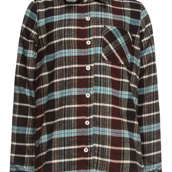 Full Tilt Boyfriend Girls Flannel Shirt Multi  In Sizes