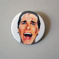 "American Psycho 1x1.5"" pinback button badge from Stickerama"