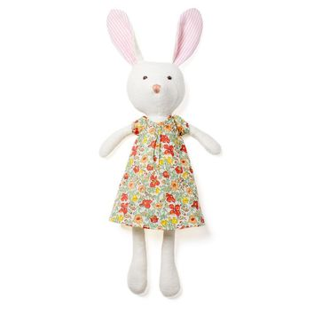 Hazel Village Emma Organic White Rabbit Doll- Liberty London Dress