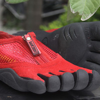 """VIBRAM Fivefingers"" Women Zip Casual Rock Climbing Five Fingers Sneakers Running Shoes"