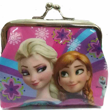 "Frozen "" Anna and Elsa "" Snap Closure Coin Purse"