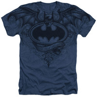 Batman Winged Logo Sublimated Mens Heather T-Shirt