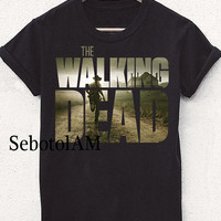 the walking dead street new ScreenPrint, Short sleeved, funny shirt for T shirt Men and T shirt Girl