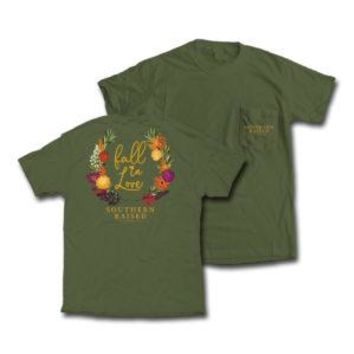 "*Closeout* Southern Raised ""Fall in Love"" Tee on Comfort Colors"