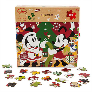 Disney Store Santa Mickey & Friends Share the Magic 500pcs Jigsaw Puzzle New Box