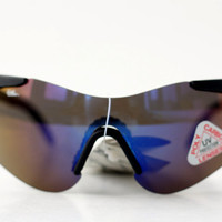 NEW Vintage Rad Cycling Sunglasses / PolyCarbon Mirror Lens Sports Specs Sunnies - Sobflex Italy - 80s