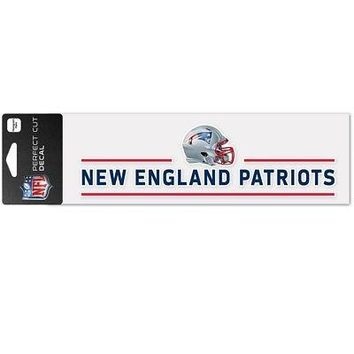 "Licensed New England Patriots Official NFL 3""x10"" Perfect Cut Car Decal Wincraft 871862 KO_19_1"