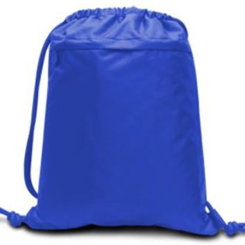 Performance Drawstring Backpack-Royal - CASE OF 48
