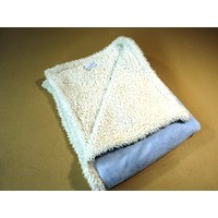 Picoolobambino Baby Blanket 36-in x 36-in Blue/White Fleece 100% Polyester -- Used