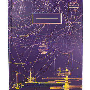 Planetary Motion Orbits Hardcover Notebook (Recycled Paper) Comet Astronomy Science Space Solar System Class Learning Student Journal Grid