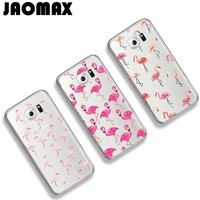 Jaomax Animal Pink Flamingo Phone Case For Samsung Galaxy S7 S6 S5 S4 S3 Edge S8 Plus Silicone Transparent Soft Back Cover Funda