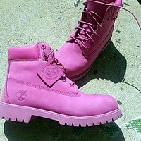 Tagre Timberland Rhubarb boots for men and women shoes waterproof Martin boots lovers Roses