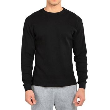 Mechaly Men Basic Cotton Waffle Knit Heavy Thermal Shirt