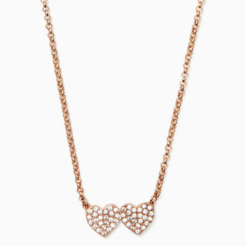 yours truly pave heart mini pendant | Kate Spade New York