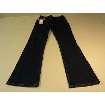 Levi Strauss Jeans At Waist Bootcut Cotton Elastane Female Adult 4 Short Blues -- New With Tags