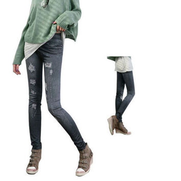 New Fashion Denim Jeans women girl Sexy Leggings Jeggings Skinny Pants