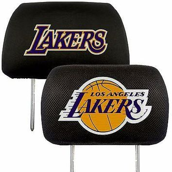 Los Angeles Lakers 2-Pack Auto Car Truck Embroidered Headrest Covers