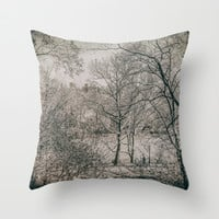 THROUGH THE BRANCHES (Old plate camera) Throw Pillow by JAY'S PICTURES