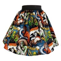 """Perfectly Pleated"" Monsters Skirt"