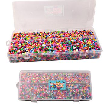 Randomly Hama Beads 13000Pcs Set 5MM & 3MM Children Crafts Perler Beads Jigsaw Puzzle For Kids GREAT Fun 1Pc