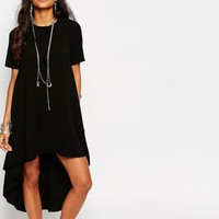 Glamorous | Glamorous Hi Low Hem T-Shirt Maxi Dress at ASOS