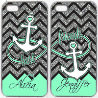 Best Friend iphone 4 case, Samsung Galaxy S4 Case, Samsung Galaxy S3 Case, iPhone 5 Case, Best Friends, infinity, Set Of 2 (552)