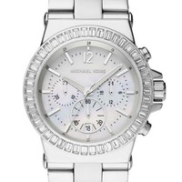 New Michael Kors Dylan Silver Chrono Stainless Steel MK5411 Women's Glitz Watch