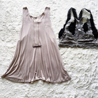 A Racerback Tank in Taupe