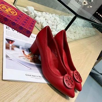 Tory burch Women Casual Shoes Boots fashionable casual leather Women Heels Sandal Shoes