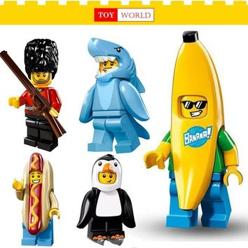Single Sale  brick Figures Banana guy Sausage man Building Blocks Compatible With LegoINGly TOYS Batman Ninjago SuperHeroes