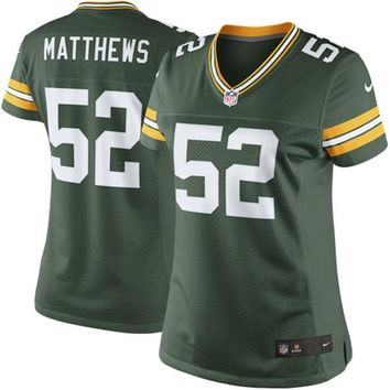 Women's Green Bay Packers Clay Matthews Nike Green Limited Jersey