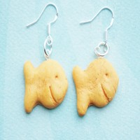 goldfish crackers earrings
