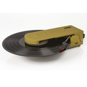 Revolution Portable USB Turntable in Green design by Crosley