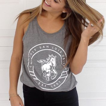 Official NCAA California Polytechnic State University Cal Poly SLO Musty Mustang Mustang Tank