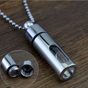 DCCK7BW Can open Storage Bottle Necklace Glass Perfume Bottle Titanium steel seal Act the role ofing is tasted