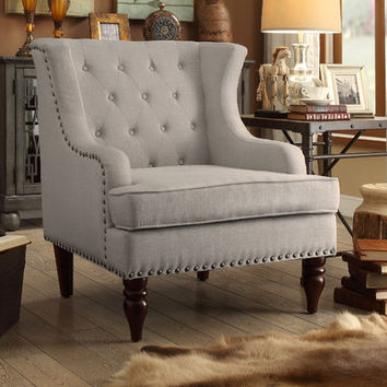 iNSTANT HOME Jewel Tufted Wingback Club Chair & Reviews | Wayfair