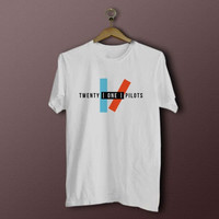 Twenty one pilots tshirt 21 pilots shirt printed white available Men and Women more size