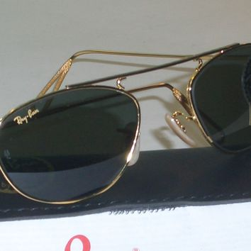 VINTAGE RAY BAN W2003 STUNNING CLASSIC METALS DESIGNED WIRE AVIATOR SUNGLASSES