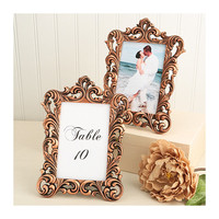 Copper Picture Frame 4 x 6 Size - Baroque Table Number Frames - Wedding Favors Party Favor Victorian Bridal Shower