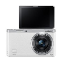"Samsung NX Mini 20.5MP CMOS Smart WiFi & NFC Mirrorless Digital Camera with 9mm Lens and 3"" Flip Up LCD Touch Screen (White)"