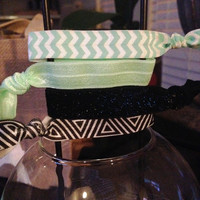 Chevron and Tribal Hair Tie Set of 4