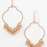 Women's Sequin Beaded Drop Earrings