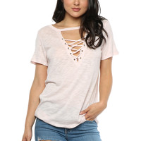 Jac Parker Everyday Lace Up Tee