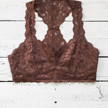 Love Song Bralette - Chocolate
